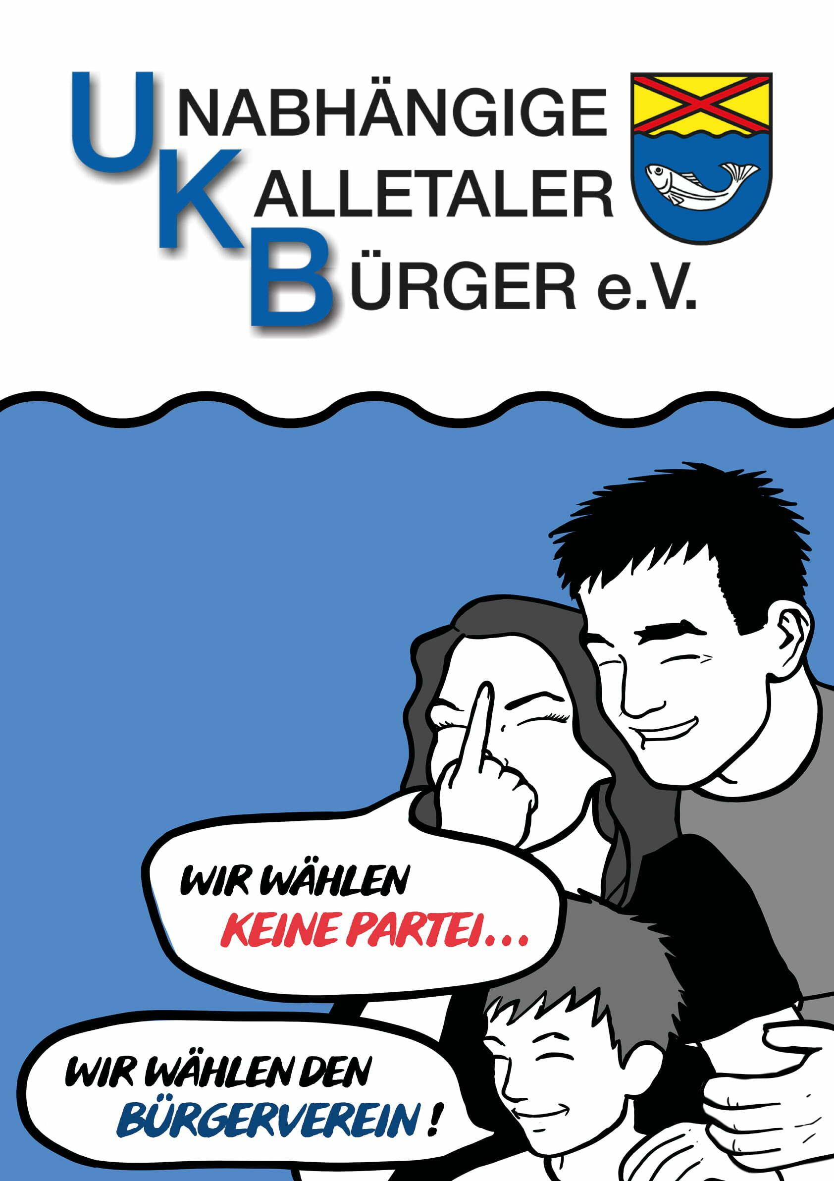 UKB Kalletal Wahlplakat 2020